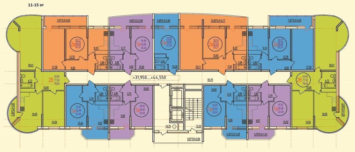 11-15 этажи